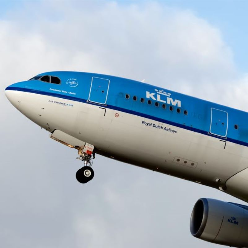 KLM takes off