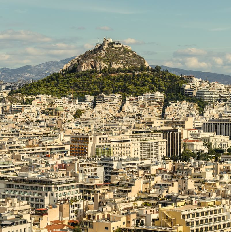 Lycabettus Hill, Athens city and hill