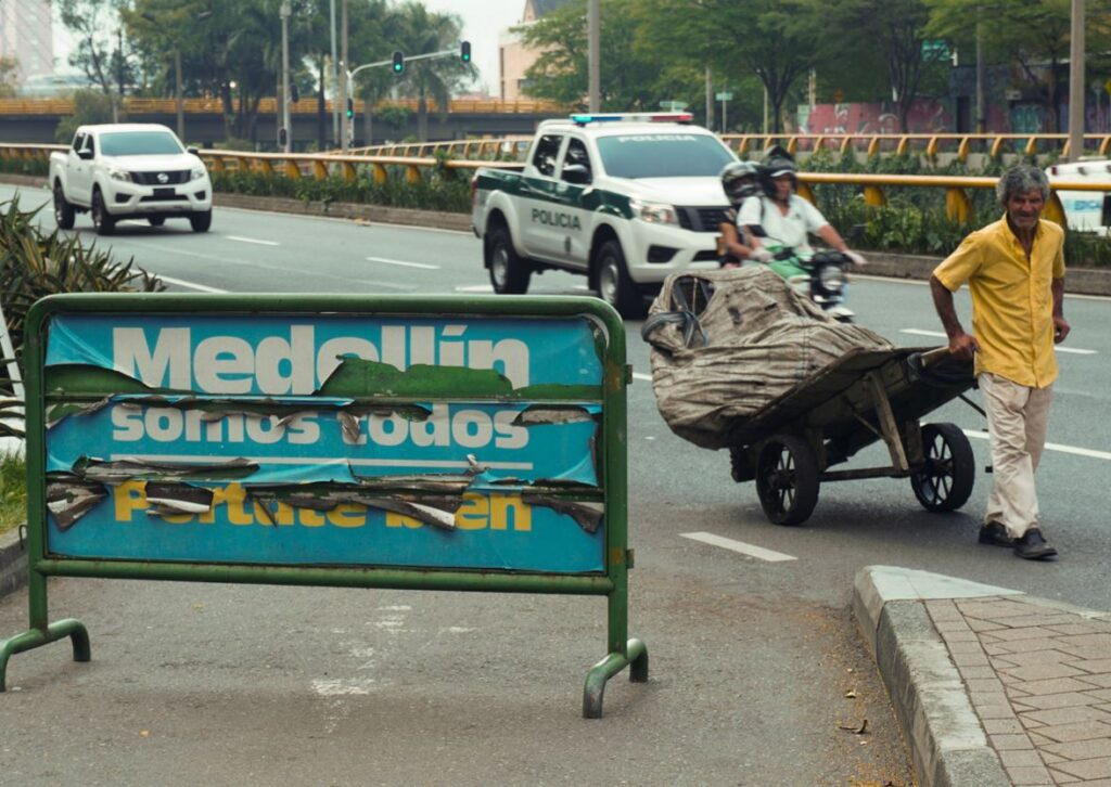 Medellin Homeless man