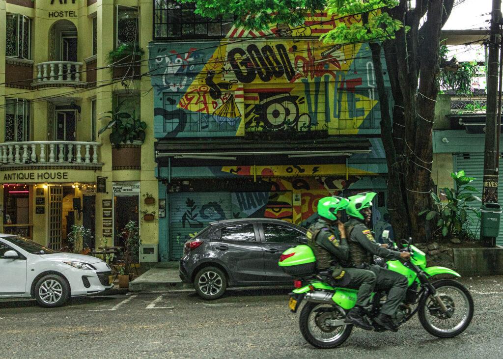 Medellin Police on Motorbike