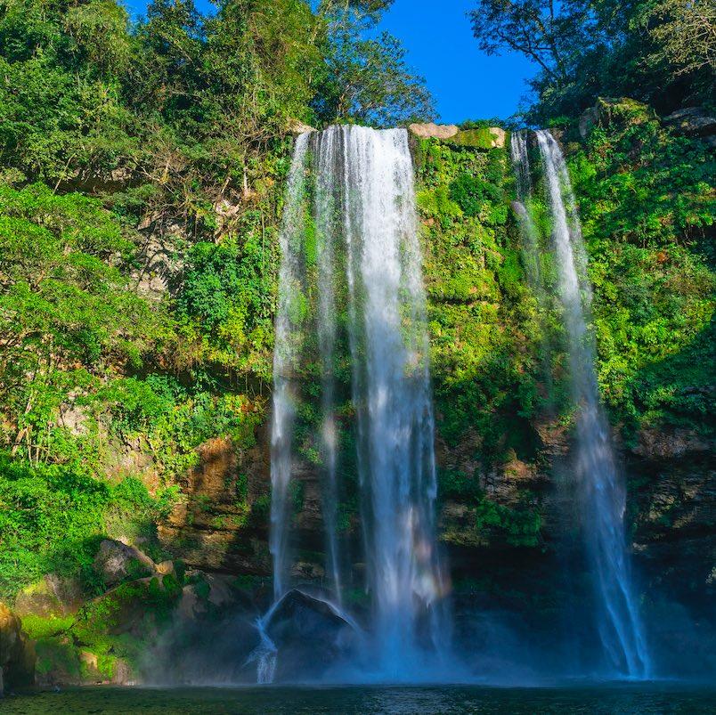 misol ha waterfall in Chiapas, Mexico