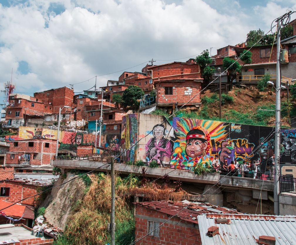 Poor area of Medellin