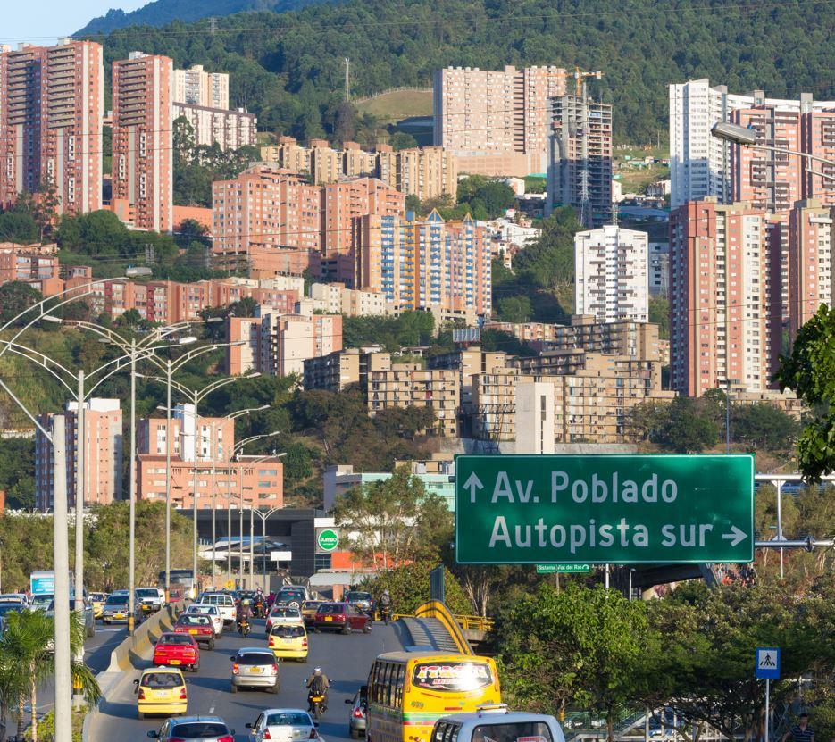 Street sign to Poblado