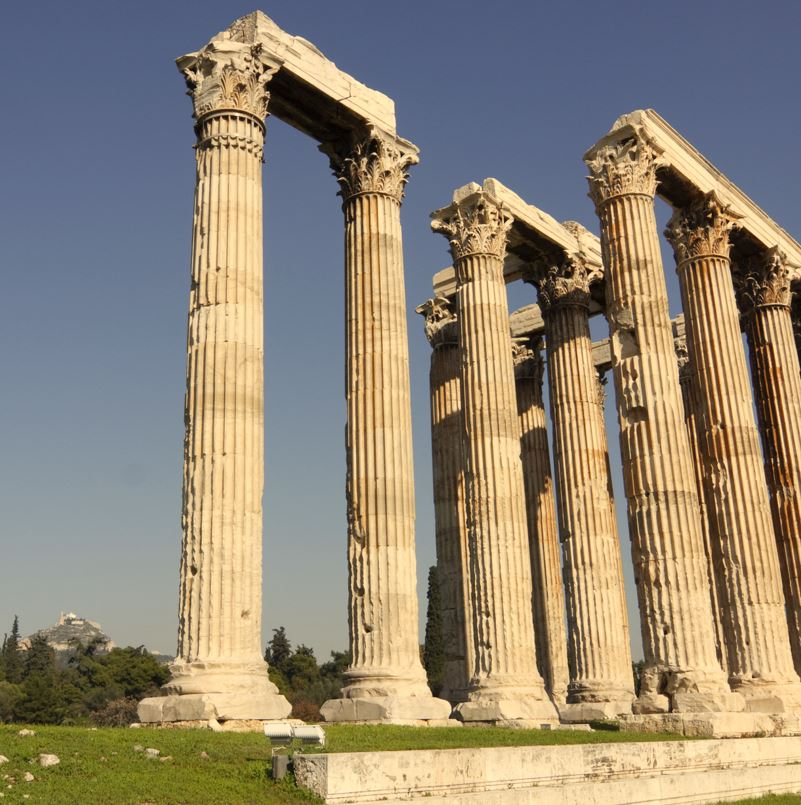 Temple of Olympian Zeus, Athens columns and sky