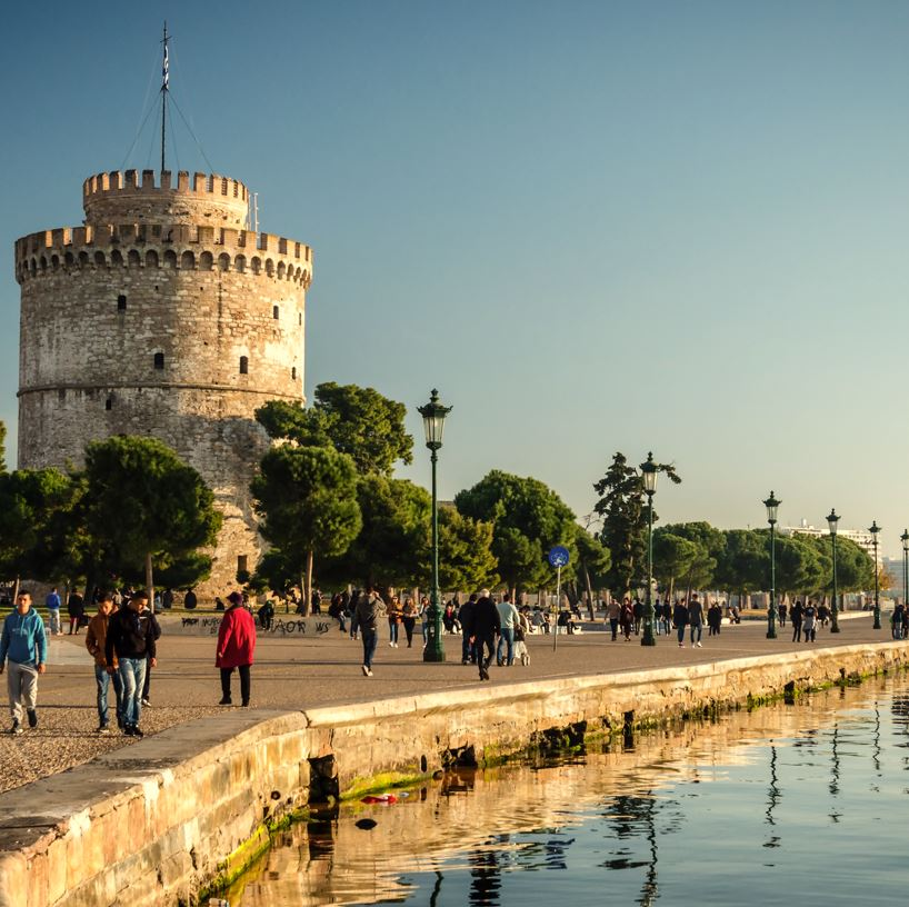Thessaloniki harbour and White Tower