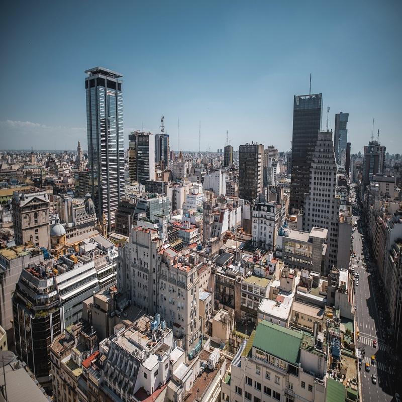 Vista de Buenos Aires desde la azotea
