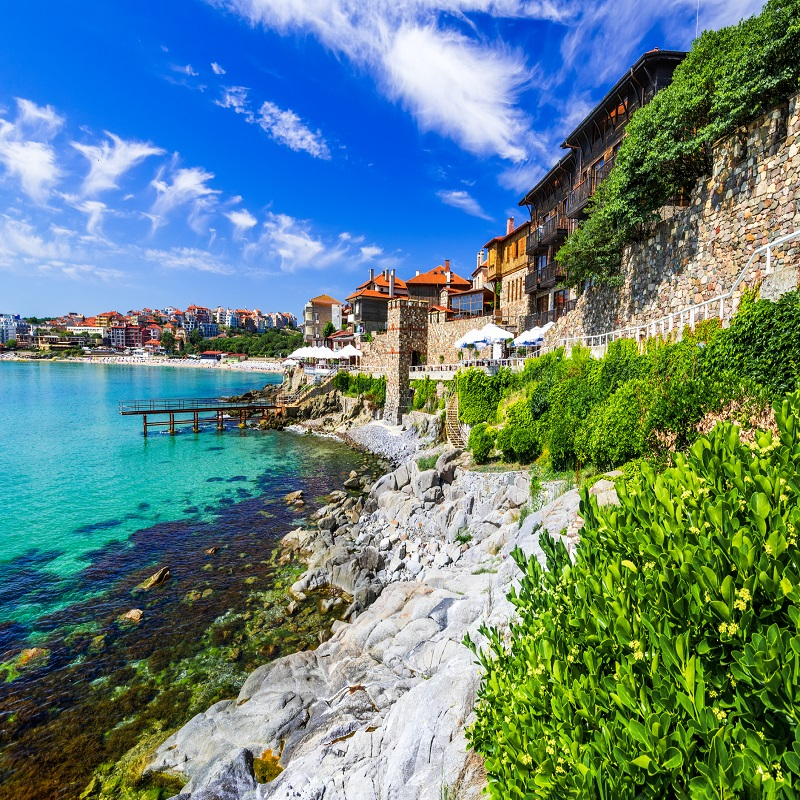 Walled city of ancient Apollonia on Black Sea
