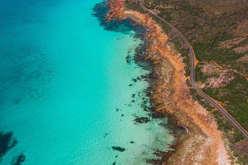 Amazing aerial image of the Western Australian coastline.