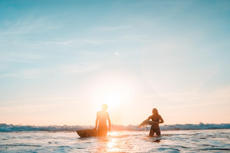 surfers in water australia