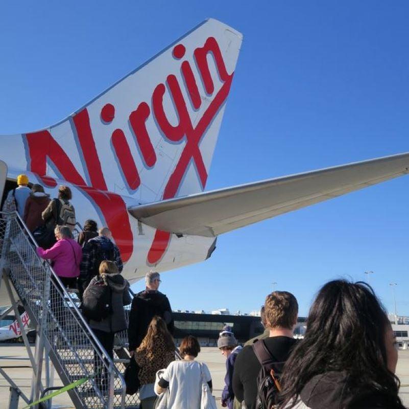 boarding virgin flight