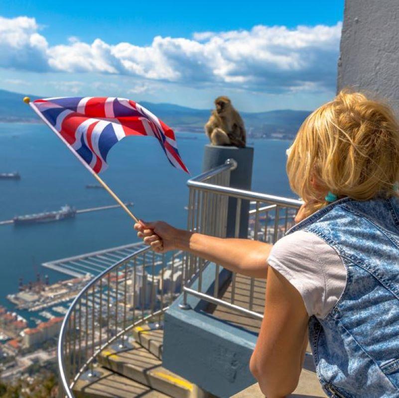 british traveler gibraltar monkey
