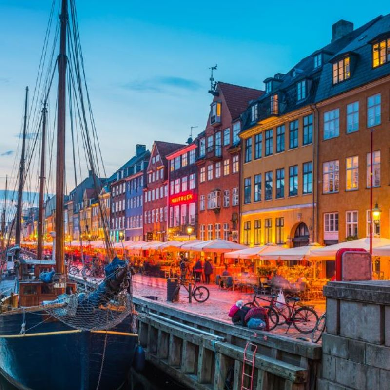 copenhagen denmark nyhavn harbour