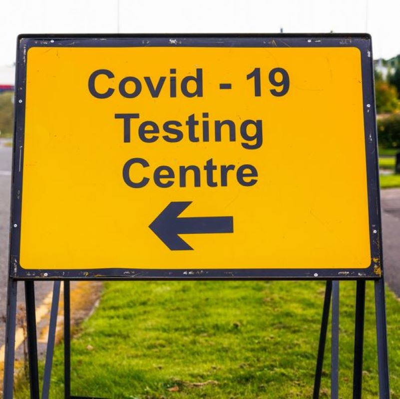 covid test sign