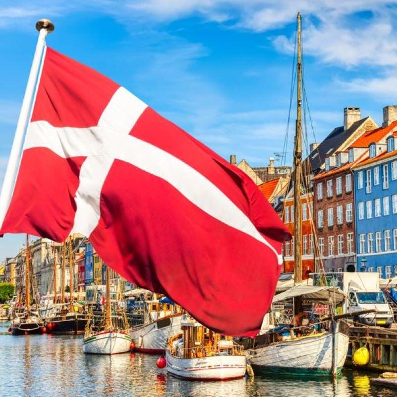 denmark flag buildings