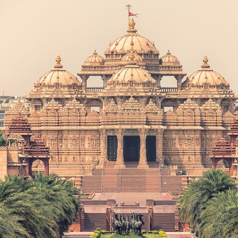 Swaminarayan Akshardham complex indian temple in New Delhi, India