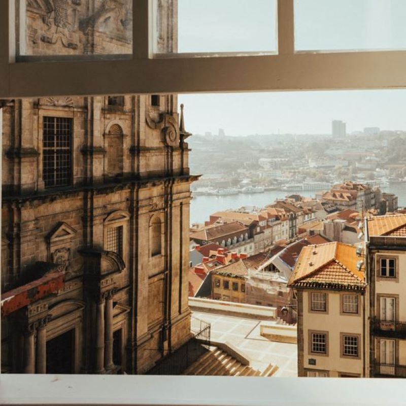 portugal old town view window