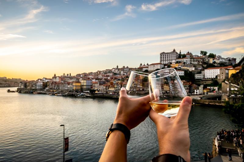 wine glasses in portugal