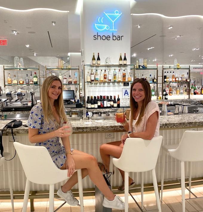 shoe bar inside Nordstrom flagship store NYC