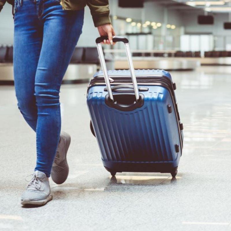 suitcase airport terminal