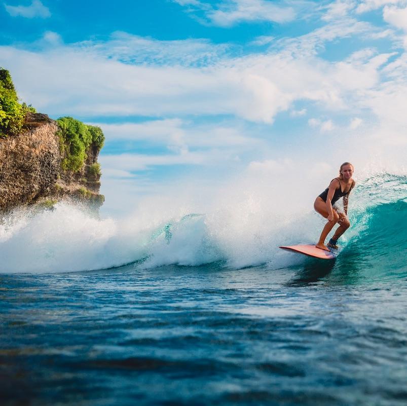 surfer girl in Bali