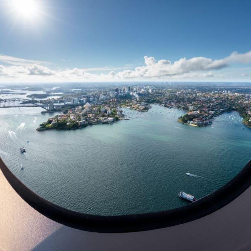 sydney airplane window
