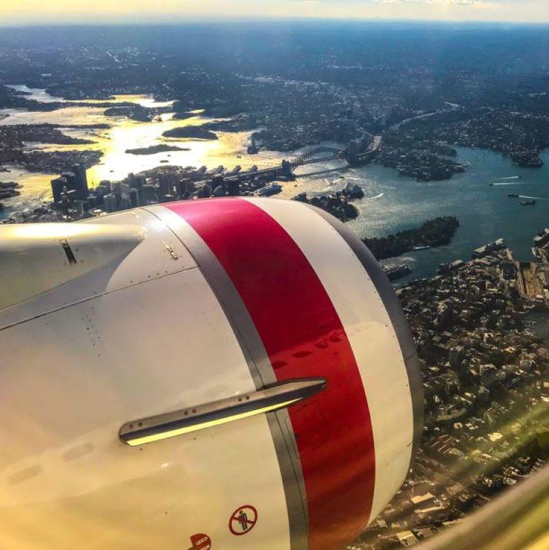 syndey aerial view flight