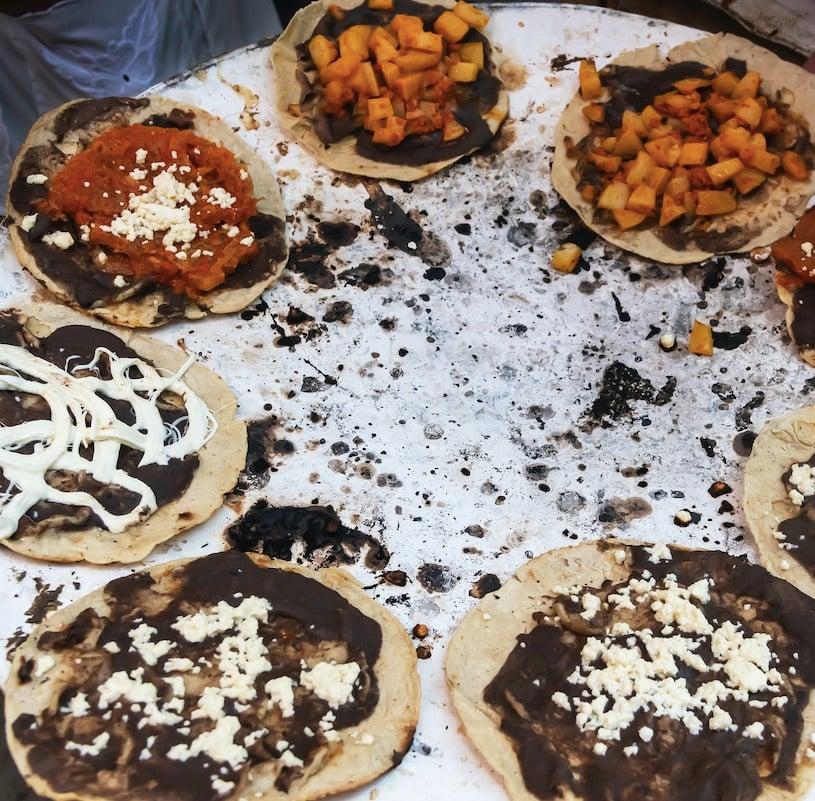 street food tortillas in oaxaca