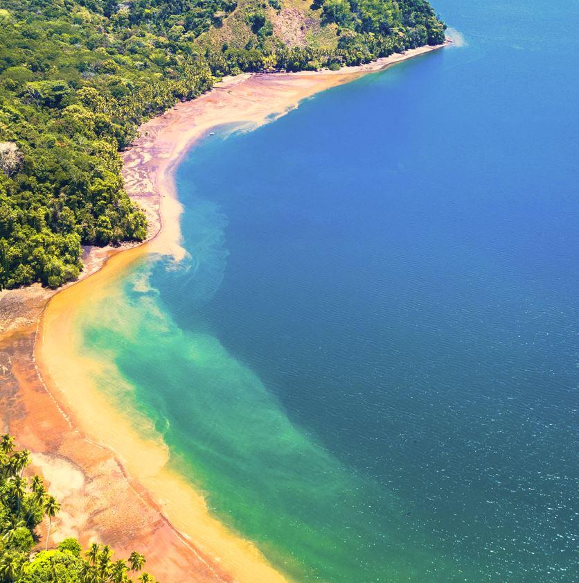Corcovado, Costa Rica jungle beach and sea