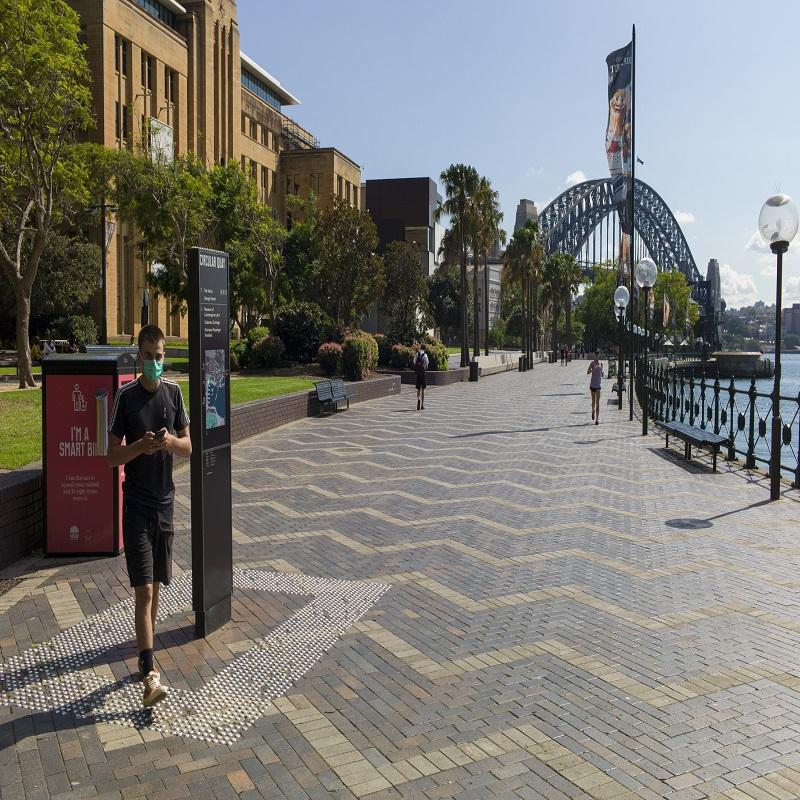 Empty Sydney streets after Covid-19 Sydney lockdown