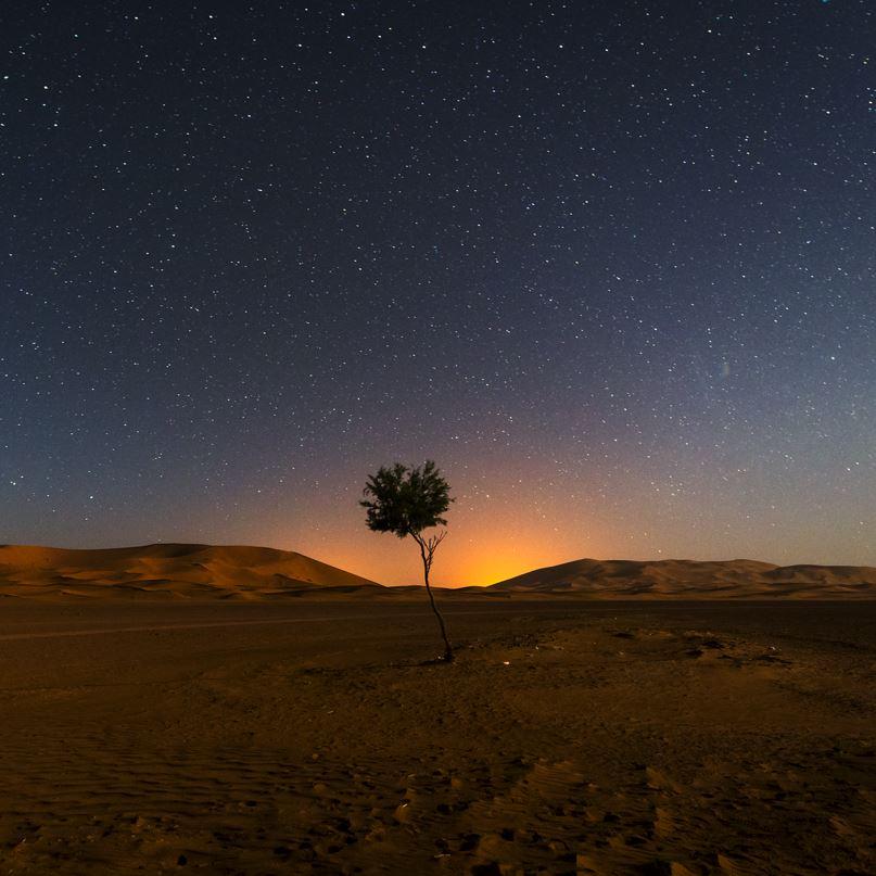 Erg Chebbi at night