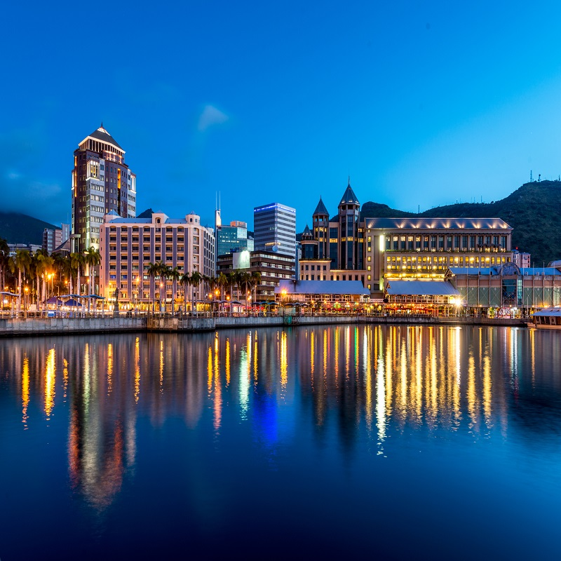 Port Louis by Night Mauritius