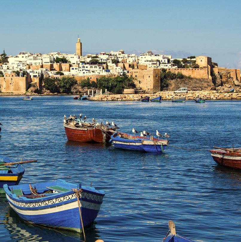 Rabat boats on water