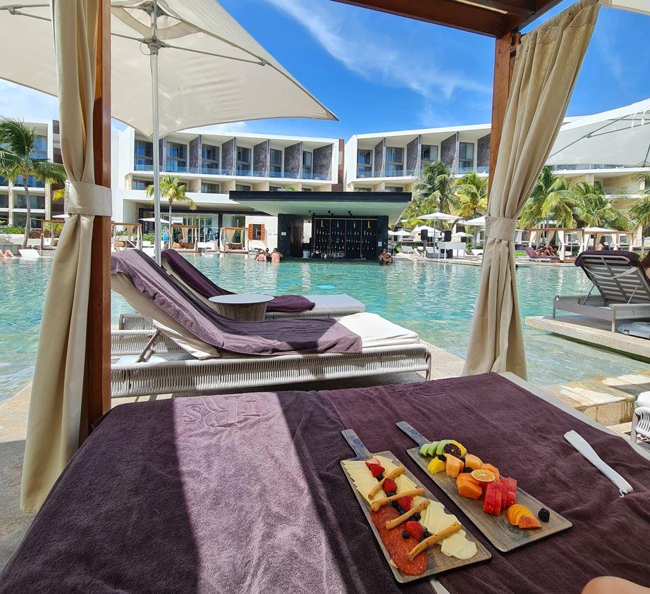 resort cabana and pool