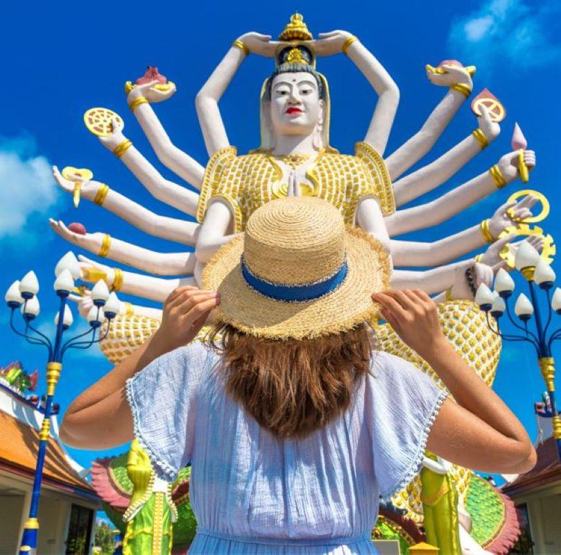 buddhist hindu statue thailand