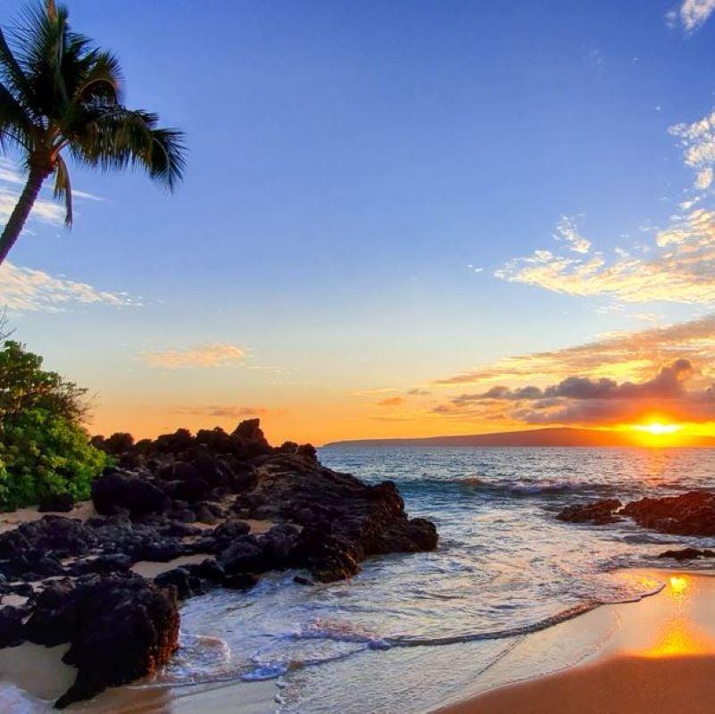 hawaii beach sunset