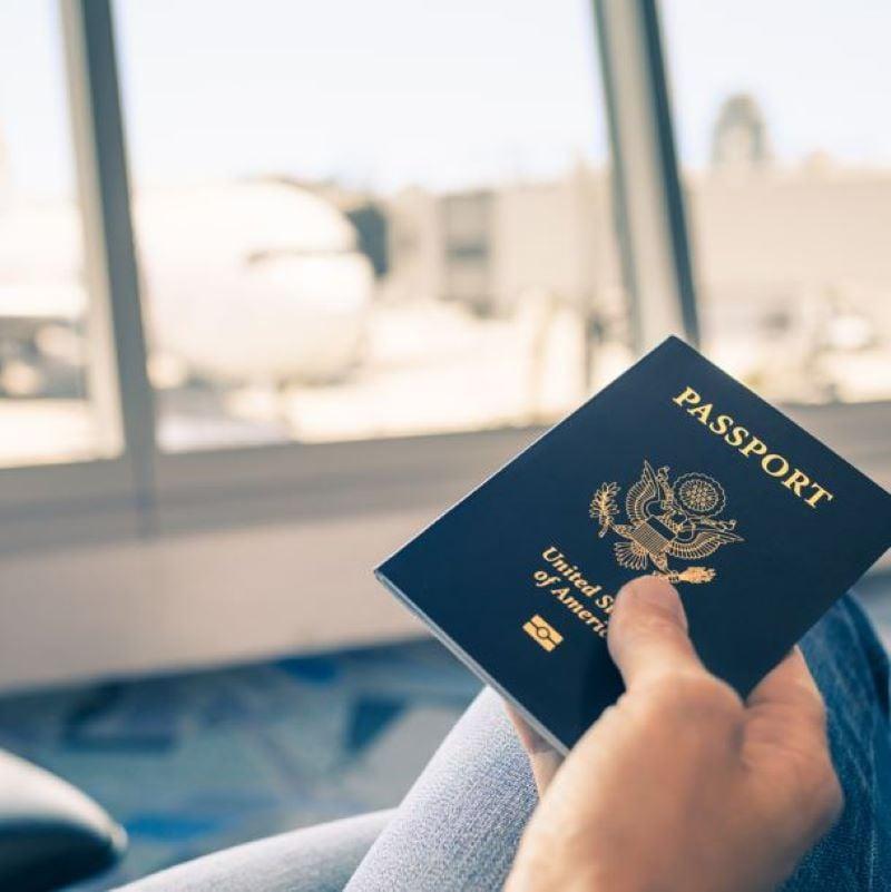 passport airport airplane