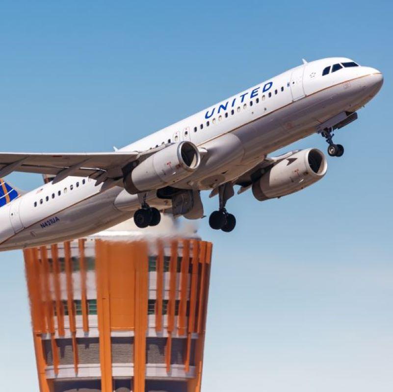 united take off air traffic tower