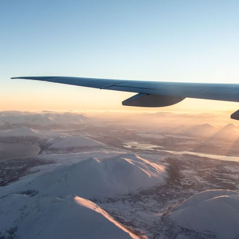 wing airplane winter